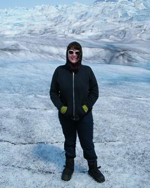 Jess on the Mendenhall Glacier