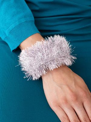 Glitter Eyelash Wrapped Bangle Bracelet