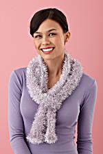 Glitter Eyelash Loom Knit Scarf