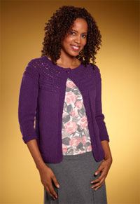 Knit Women's Eloise Eyelet Cardi