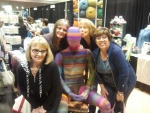 Linda, Linette, Karen & Karen with Amazing Man