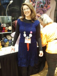 Amy Shelton, CGOA pres, in Vanna's Glamour
