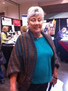 Another fan in her Tweed Stripes shrug