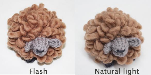 Flash vs natural light