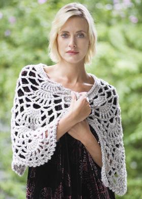 Free Crochet Pattern clsu-ruana Romantic Ruana : Lion