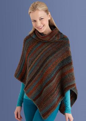 Free Crochet Pattern 40709C Mitered Uni Poncho: Crochet : Lion