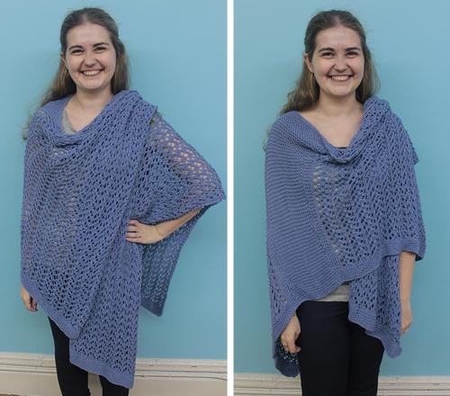 Knit Spring Ruana styling