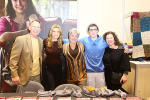 Vanna White with Nancy and her family.