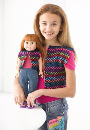Bright Lights Doll Vest