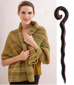 Caramel Tweed Shawl