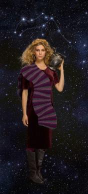 Aquarius zodiac scarf