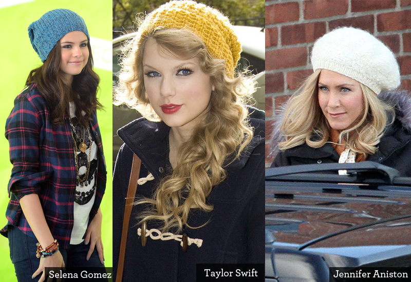 Celebrities in Slouchy hats