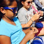 Younger fans knit and crochet