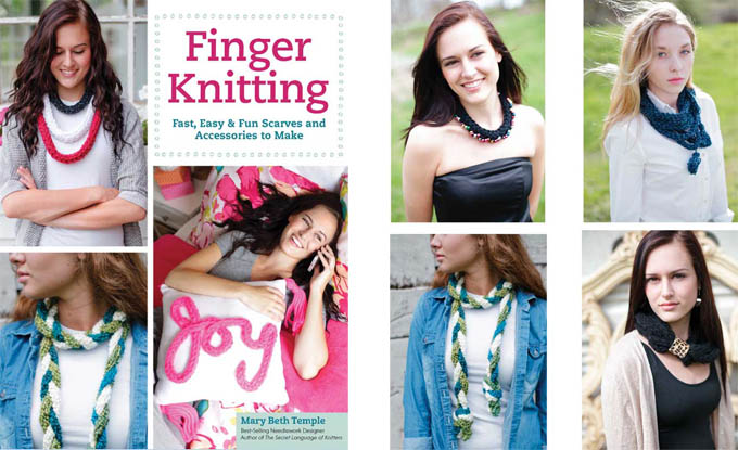 Finger Knitting main collage image