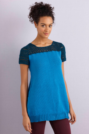 knit and crochet tunic