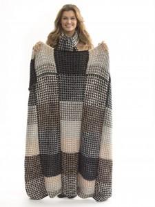 Knit Afghan & Scarf Set L40639 L40640