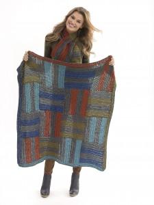 Crochet Afghan & Scarf Set L40643 L40644