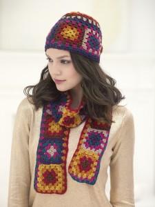 Crochet Hat & Scarf Set L32090a