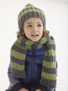 Knit Hat & Scarf Set L40400a