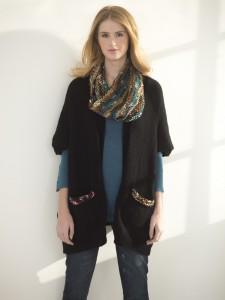 Knit Cowl & Cardigan Set L40690a