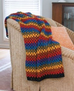 Happy Granny Stripe Afghan