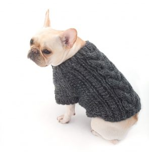 Cabled Dog Cardigan (Knit)