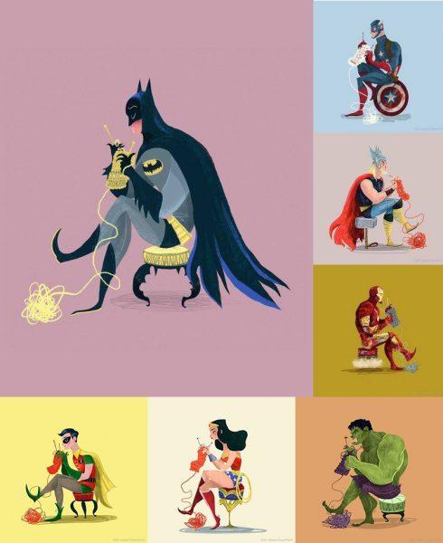 knitting superheroes