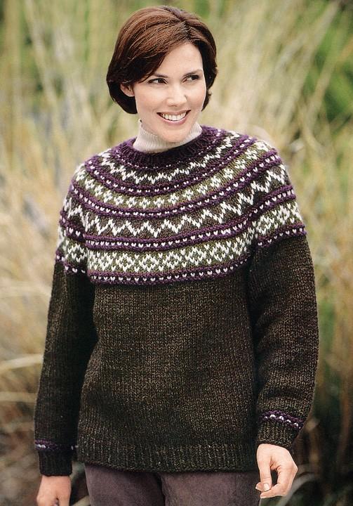 Yoke Sweater Knit Pattern (Knit)