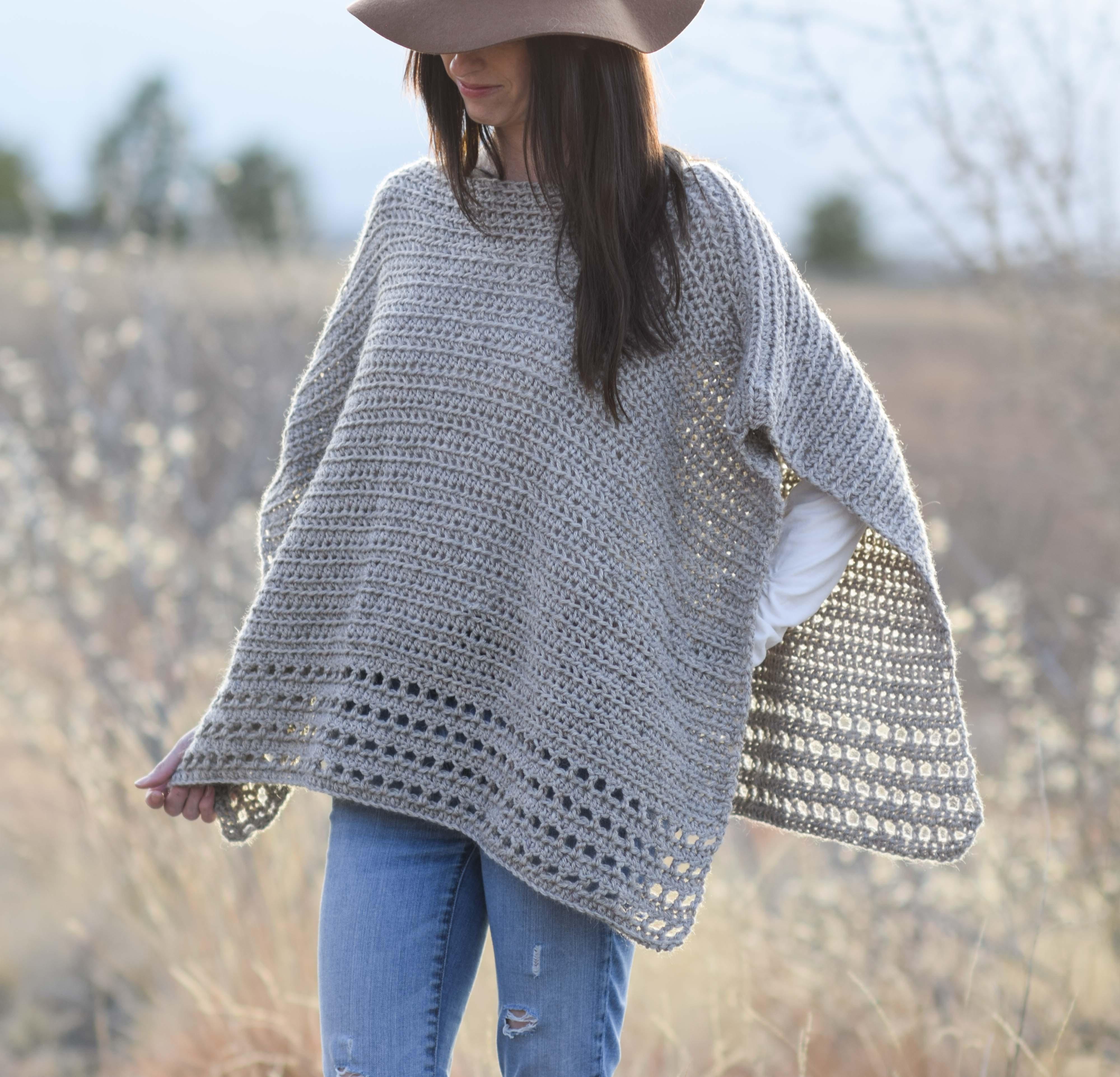 Light Alpaca Poncho Pattern Crochet Kit