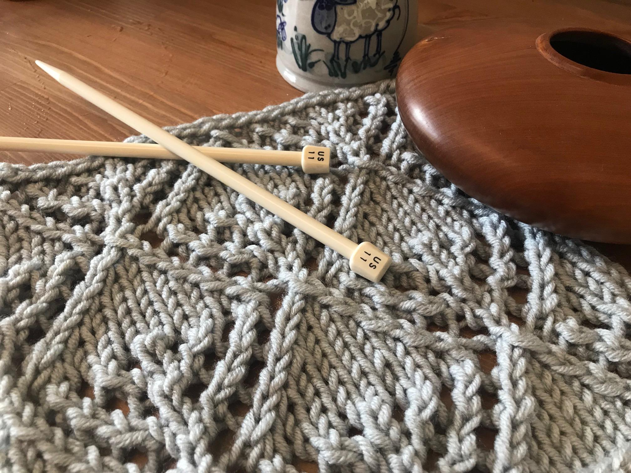 knit stitch, lace stitch, knitting pattern, lace pattern, winter lace