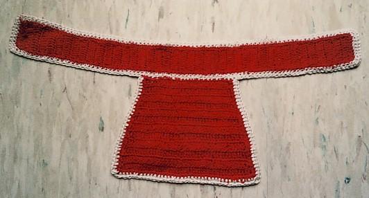 Crocheted jockey from Seabiscuit
