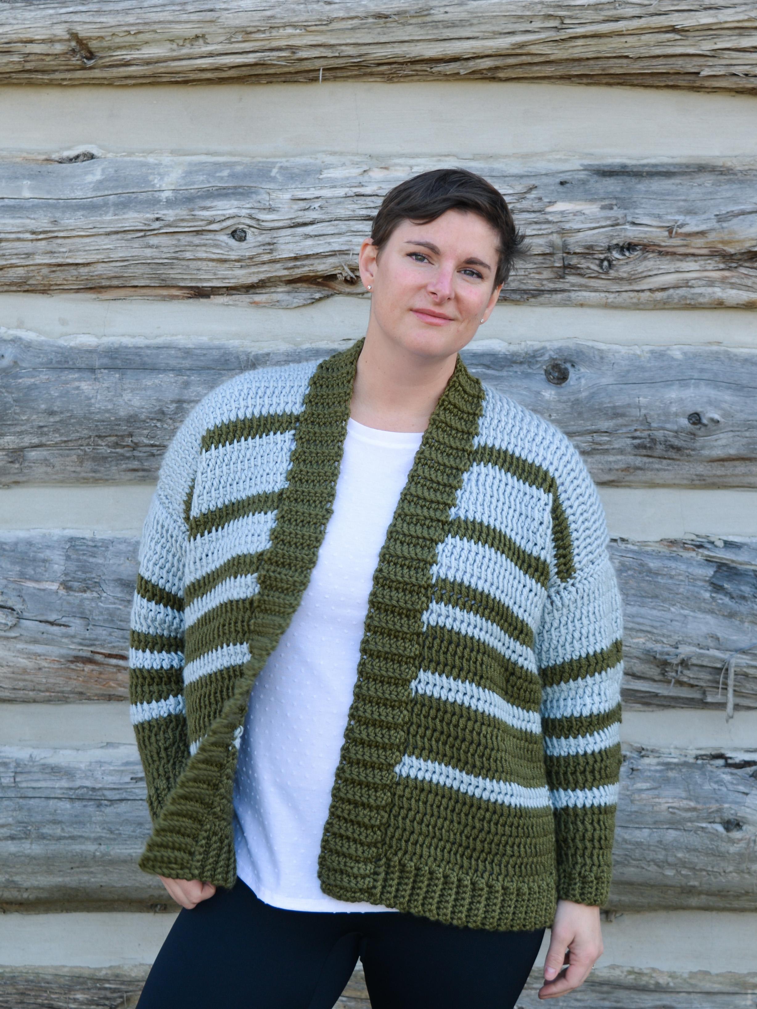 Crochet Flipside Cardigan (Janine Mudge)