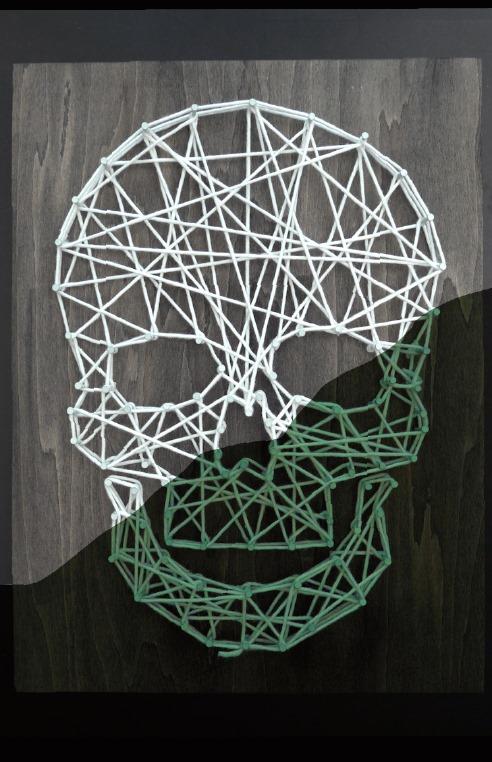 Dark Skull String Art Template